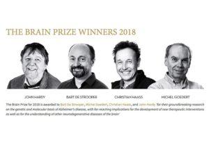Brain Prize Winners Michel Goedert Bart de Strooper IMPRiND Neuronet