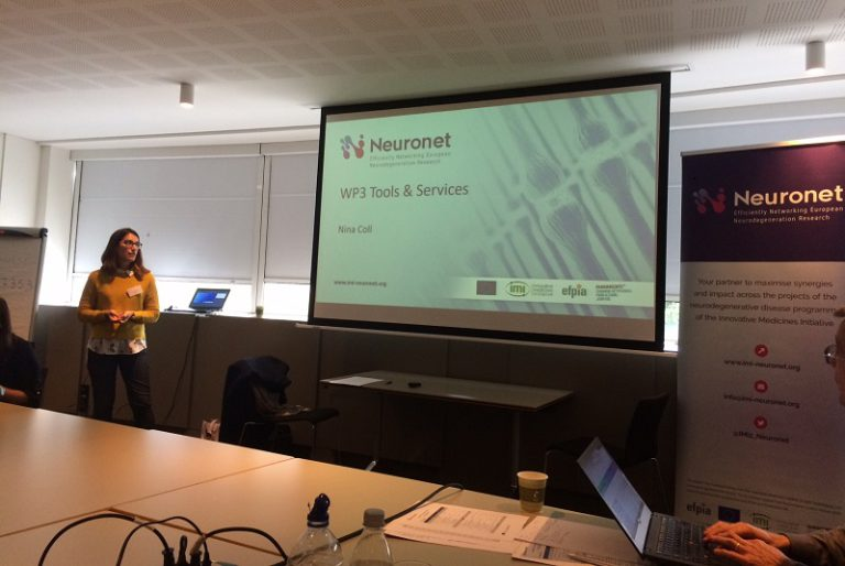 Neuronet Consortium meeting at Johnson and Johnson Headquarters in Diegem Belgium, Presentation by Nina Coll from Synapse