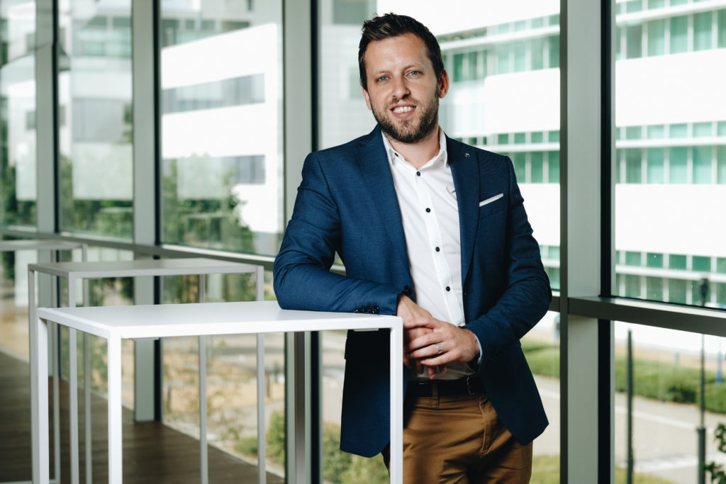 20180718 Beerse Belgie: Lennert Steukers, DVM, PhD Clinical Scientist - Experimental Medicine Neuroscience bij Janssen Pharmaceutica NV . Copyright Bart Dewaele