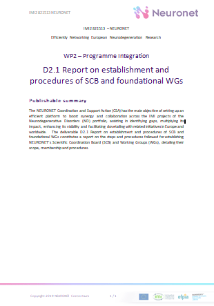 D2.1 Report on establishment and procedures of SCB and foundational WGs