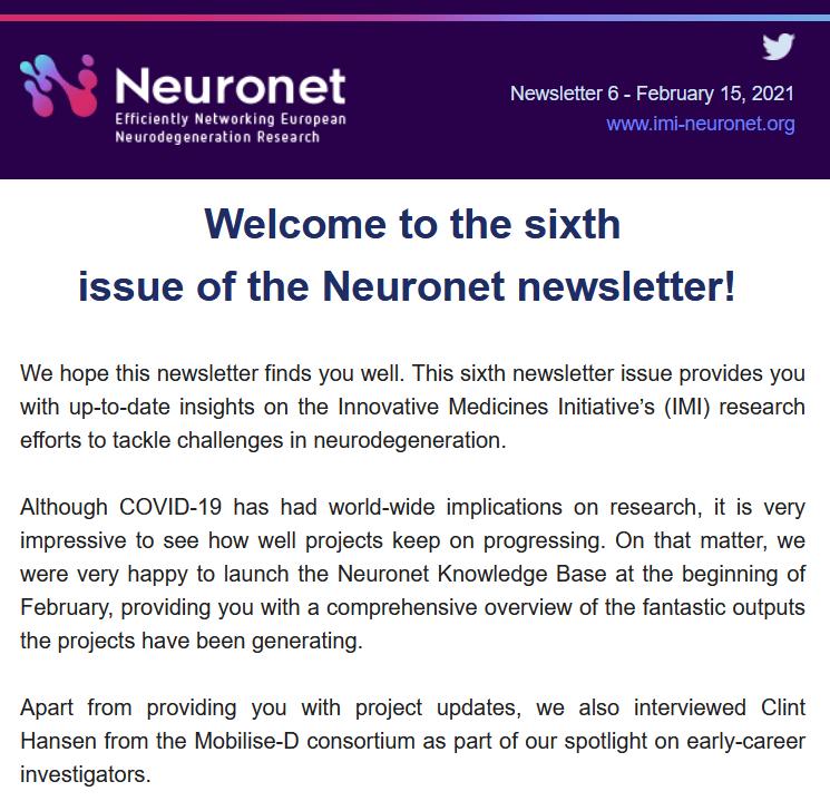 Neuronet Newsletter 6
