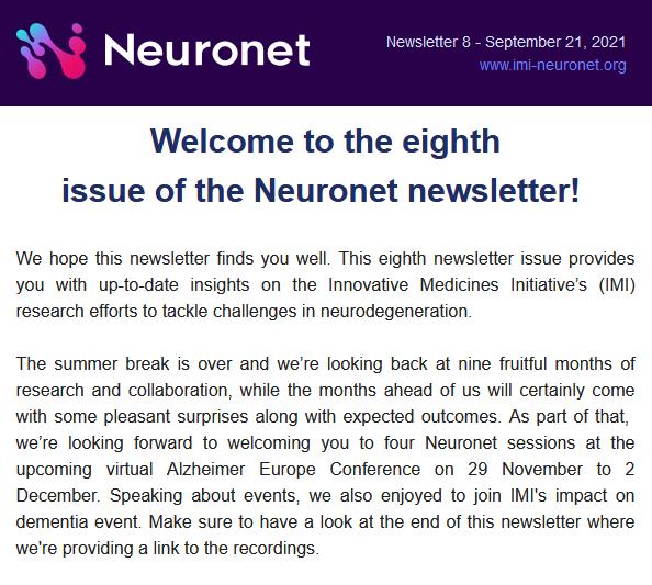 Neuronet Newsletter 8